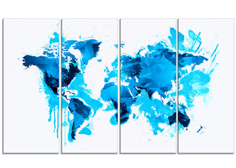 Blue Ice - Map Canvas Art PT2717