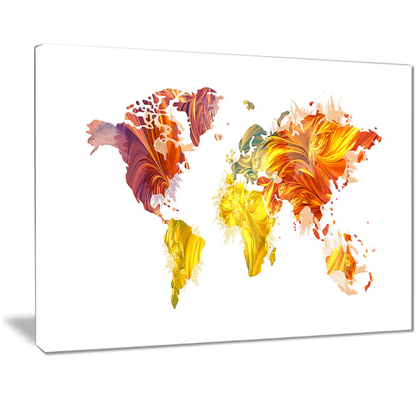 Warm Colors - Map Canvas Art PT2720