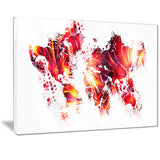 Firey Red - Map Canvas Art PT2723