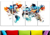 Color My World - Map Canvas Art PT2725