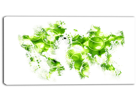 Green Bubble - Map Canvas Art PT2728