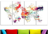 Color Canvas Art - Map Canvas Art PT2730