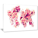 Roses of the World - Map Canvas Art PT2731