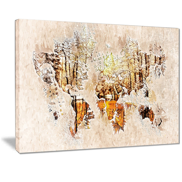 Neutral Colors - Map Canvas Art PT2734