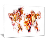 Red and Orange - Map Canvas Art PT2736