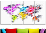 Colors of the Rainbow - Map Canvas Art PT2737