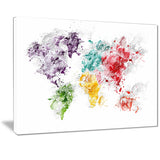 Color Splash World - Map Canvas Art PT2739