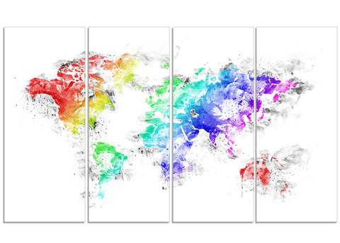 Bright World - Map Canvas Art PT2740