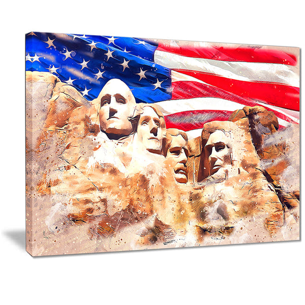 Mount Rushmore and US Flag PT2808