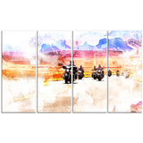 Route 66 Biker Canvas Art PT2812