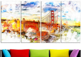 Colorfull San francisco Canvas Art PT2814