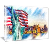 Colorfull Liberty Lady Canvas Art PT2823