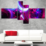 Purple Haze Abstract Digital Artwork on canvas PT3009