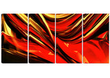 Fire Lines Red Abstract Digital canvas Art PT3011