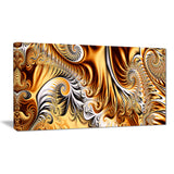 Gold & Silver Ribbons Abstract canvas Art PT3014