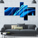 Liquid Blue Abstract canvas Art PT3018