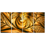 Golden Dream Abstract Art on canvas PT3026