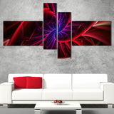 Purple & Red Entanglement Abstract canvas PT3027