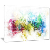 Vivid Colors Cityscape  - Large Canvas Art PT3302
