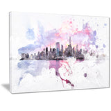 Sunset Splash Cityscape - Large Canvas Art PT3305