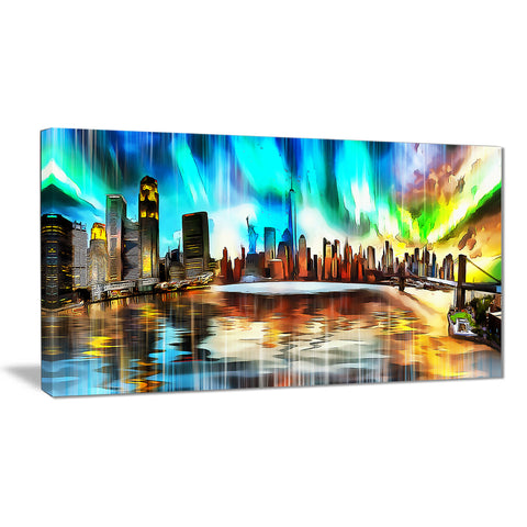 Colorful New York Cityscape - Large Canvas Art PT3307