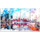 Vibrant New York Cityscape - Large Canvas Art PT3308
