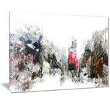 City Never Sleeps Cityscape - Large Canvas Art PT3309