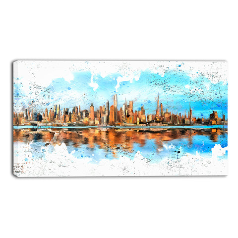 City in America Cityscape - Large Canvas Art PT3311