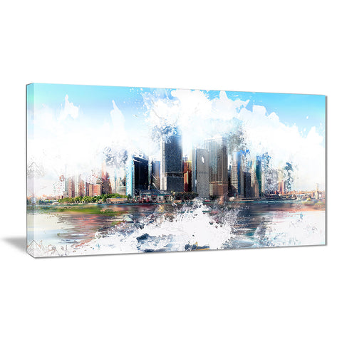 Backside Cityscape - Large Canvas Art PT3314