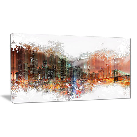 Abstract Night Cityscape - Large Canvas Art PT3315