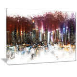 Nightlife Cityscape  - Large Canvas Art PT3317
