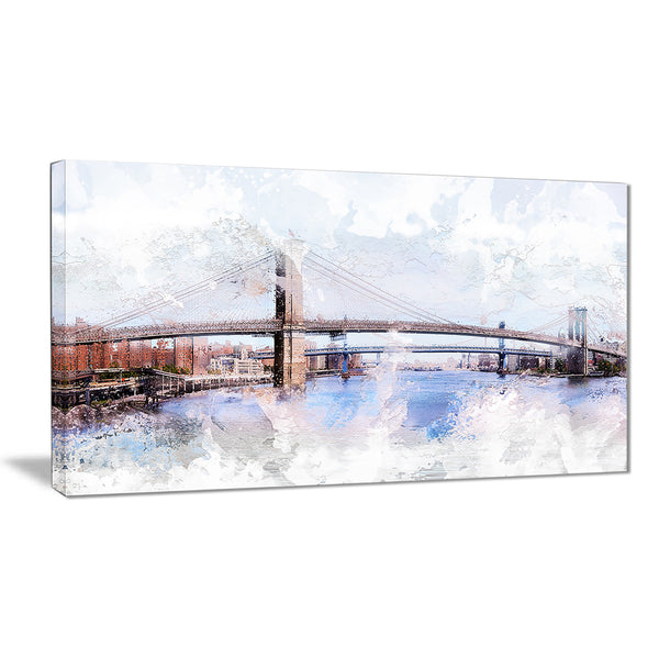 Bridge Cityscape - Large Canvas Art PT3318
