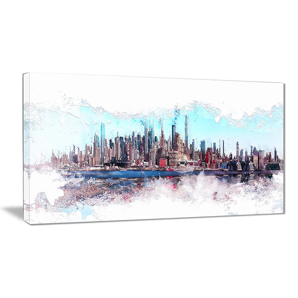 In the Bay Cityscape  - Large Canvas Art PT3319