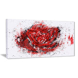 Red Rose - Floral Canvas Artwork