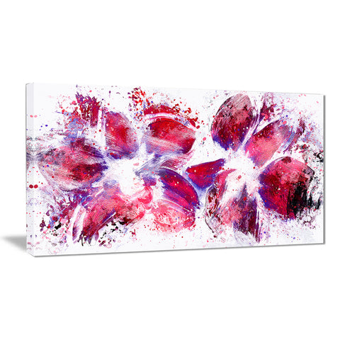 Abstract Tulips - Floral Canvas Artwork