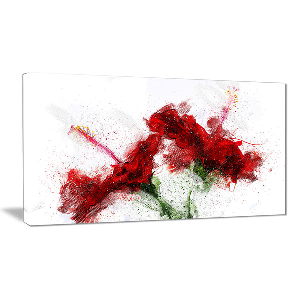 Red Lily - Floral Canvas Artwork