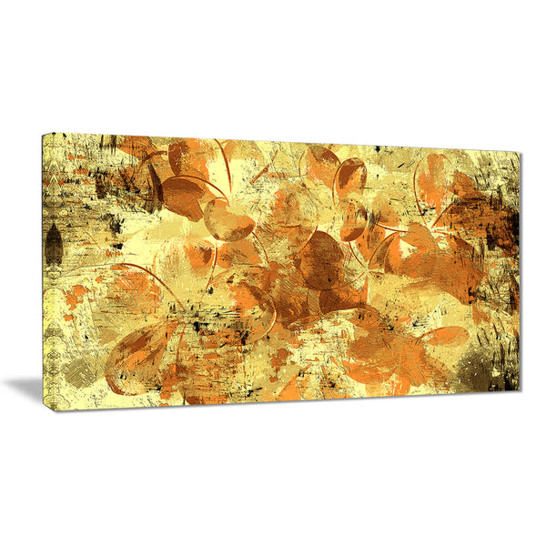 Orange Yellow Flower Petals - Floral Canvas Artwork