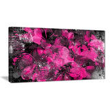 Pink Flower Petals - Floral Canvas Artwork