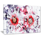 Orange and White Daisies - Floral Canvas Artwork