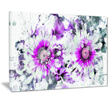 Purple and White Daisies - Floral Canvas Artwork