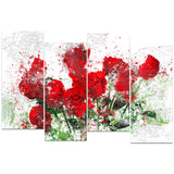 Bed of Roses - Floral Canvas Artwork