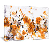 Dark Yellow Flower Trail - Floral Canvas Artwork