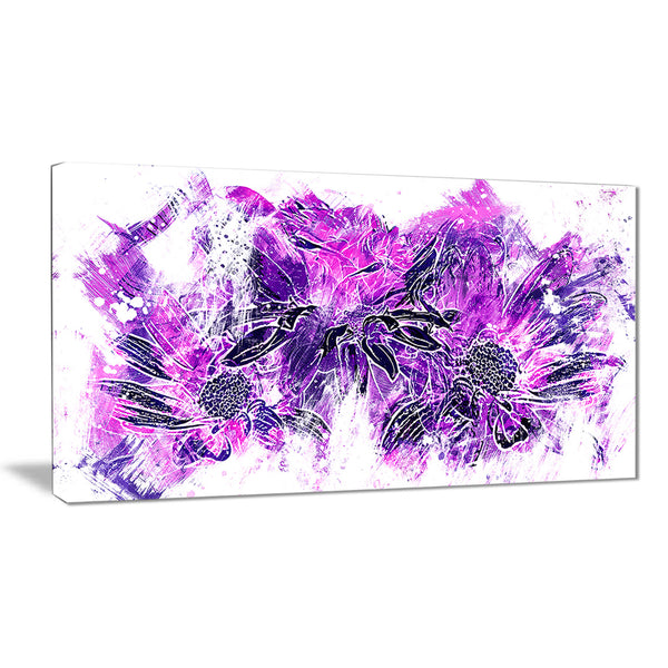 Electric Purple Flowers - Floral Canvas Artwork