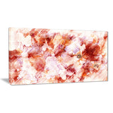 Orange Abstract Flowers - Floral Canvas Artwork