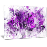 Royal Purple Flowers - Floral Canvas Artwork
