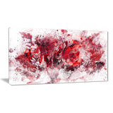 Red Purple Flowers - Floral Canvas Artwork