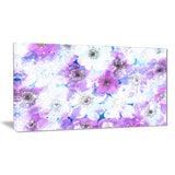 Lavender Flower Bed - Floral Canvas Artwork