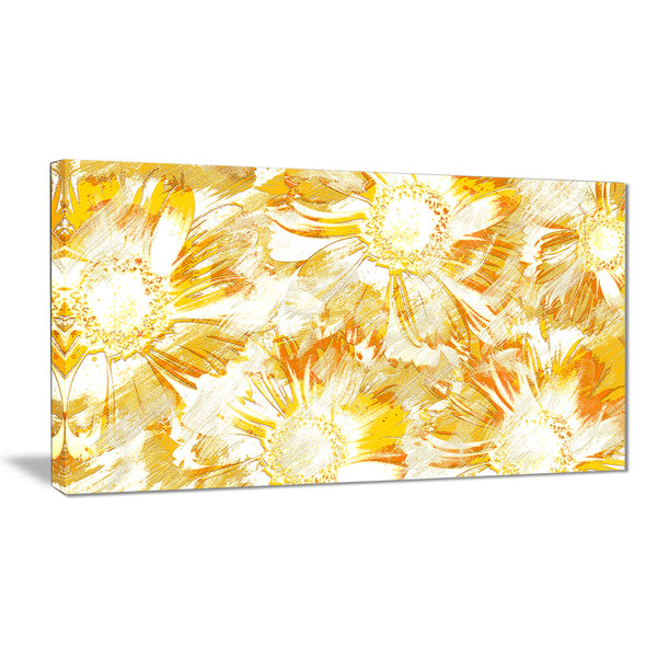 Yellow Flowers - Floral Canvas Artwork