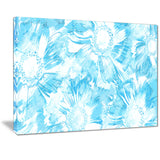 Blue Flowers - Floral Canvas Artwork