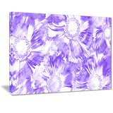 Purple Flowers - Floral Canvas Artwork